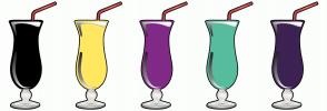 Color Scheme with #000000 #FFE761 #822A87 #57BD9E #3D2254