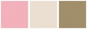 Color Scheme with #F2B1BB #EBDFD1 #A18E6A