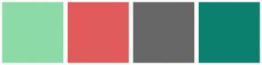 Color Scheme with #8CDBA7 #E15B5B #676767 #0C8070