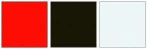 Color Scheme with #FD0E03 #161604 #EDF7F7