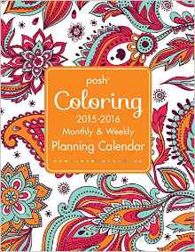 Posh Colouring 2015-2016 Planning Calendar