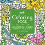 Posh Inspirational Quotes Coloring Book