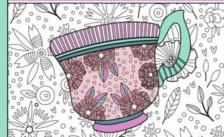Garden Tea Party - A Calming Coloring Book