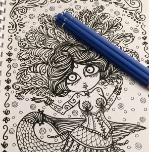 Mermaid Burlesque Coloring Book