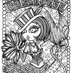 Burlesque Mermaid Coloring Book