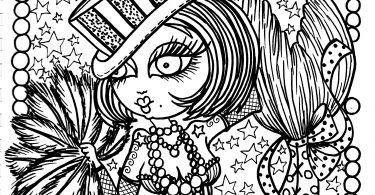 Burlesque Mermaid Coloring Book