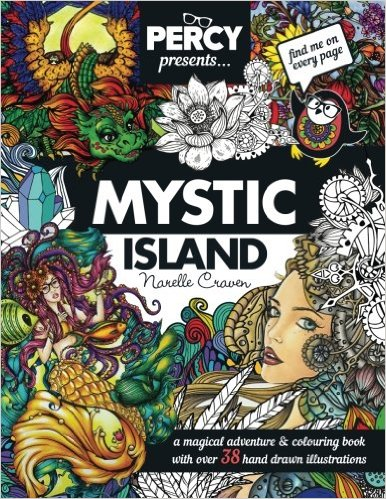 PercyPresentsMysticIsland - Percy Presents: Mystic Island - Coloring Book Review
