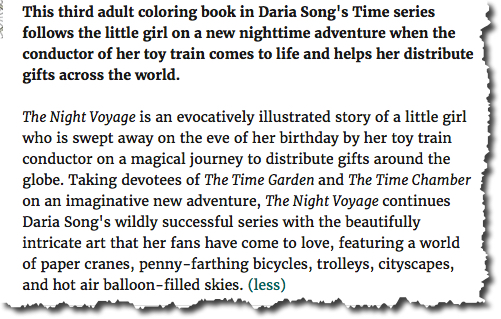 Blurb for The Night Voyage by Daria Song