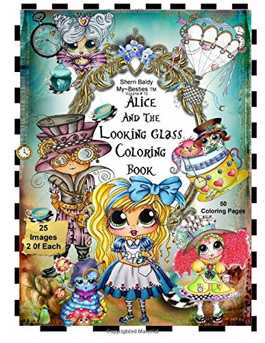 alice mybesties - Alice and the Looking Glass Coloring Book