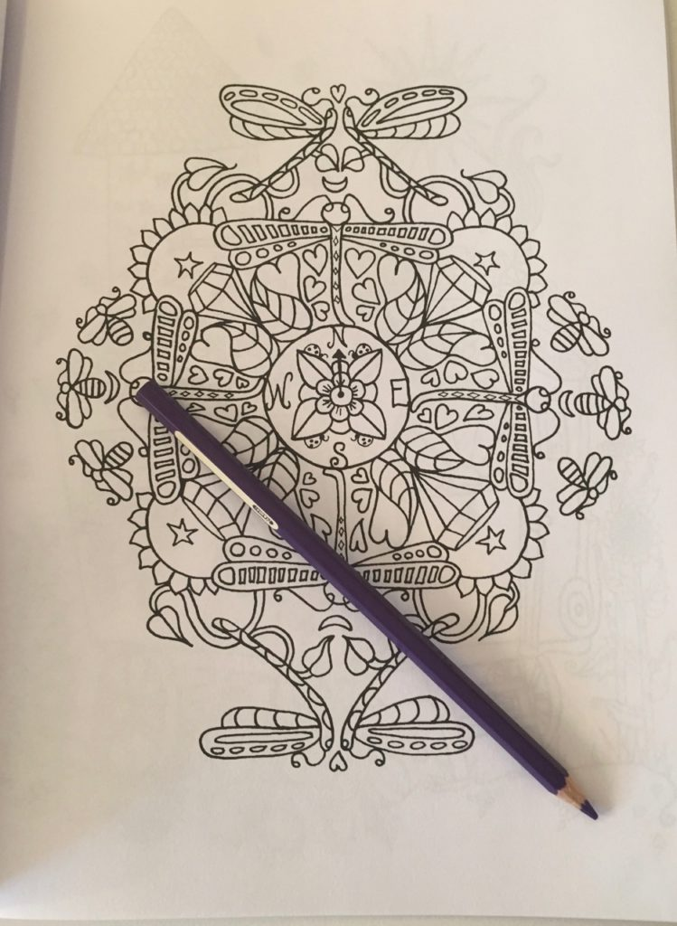 Quirky mandala image to color