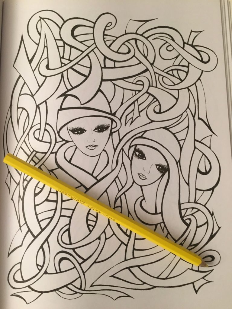 Fanciful Faces Coloring Book Review