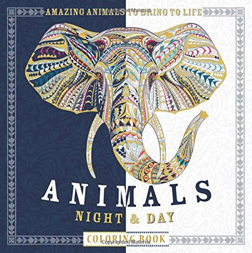 animalsnightandday - Animals Night & Day Colouring Book