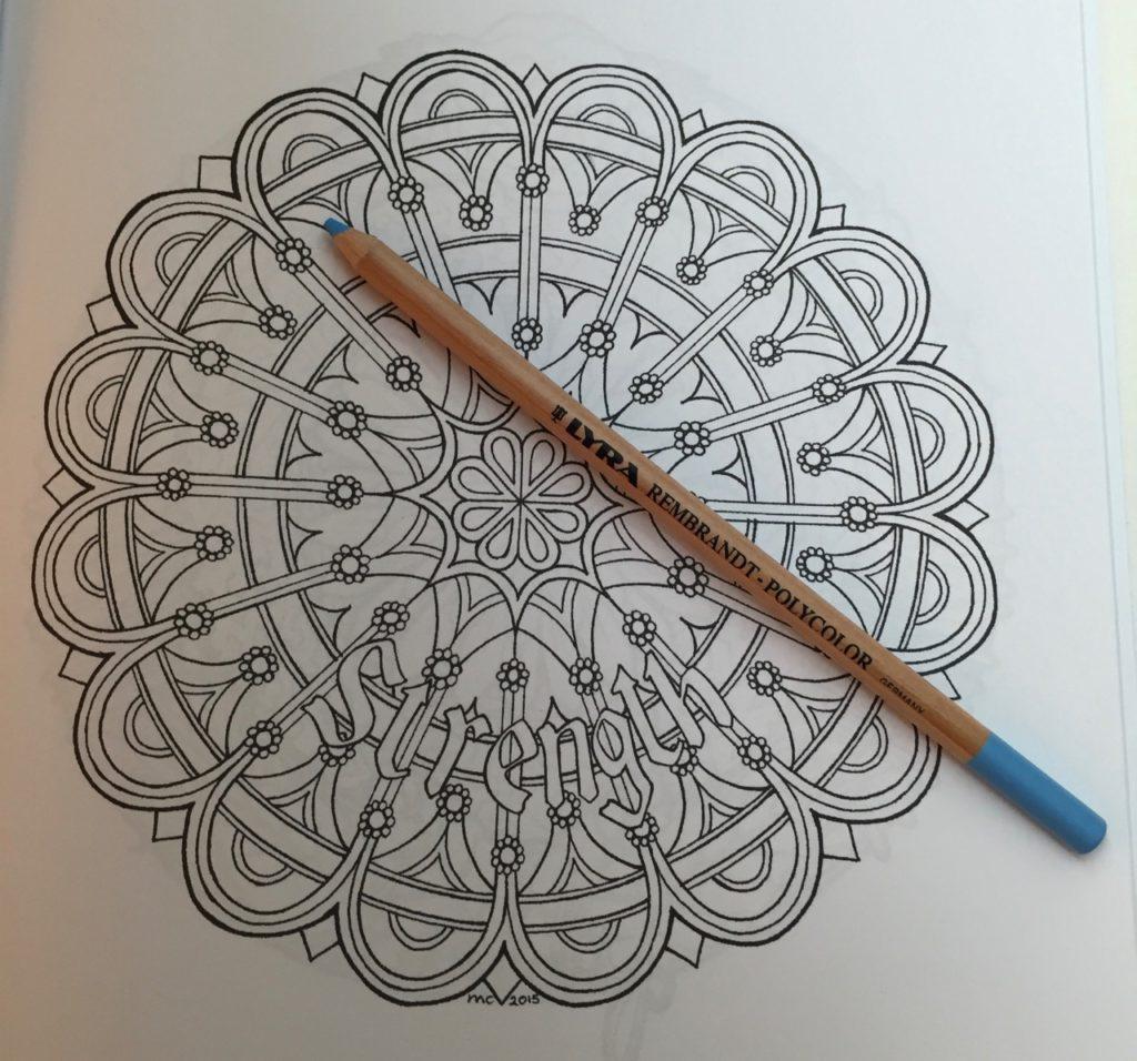 geometric mandala type design