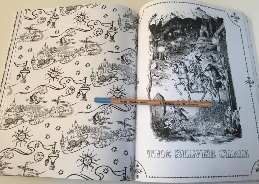 Chronicles of Narnia detailed hatching, shadowing