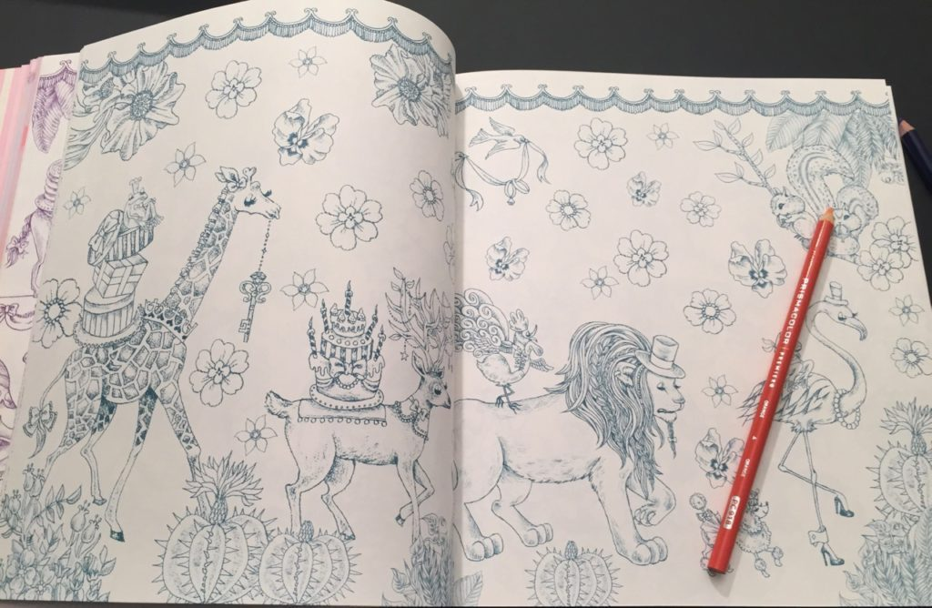Magical Circus Coloring Book - double page scene