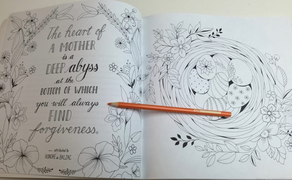 My Mother My Heart Coloring Book - quotes and images to color
