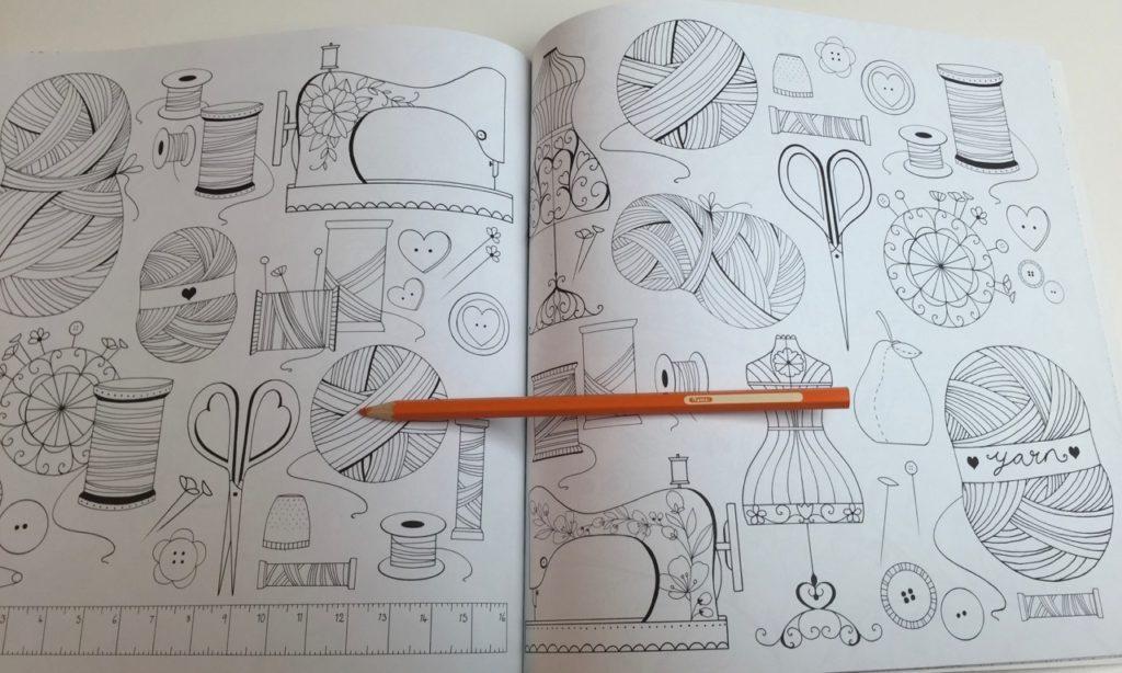 patterned pages provide varietey