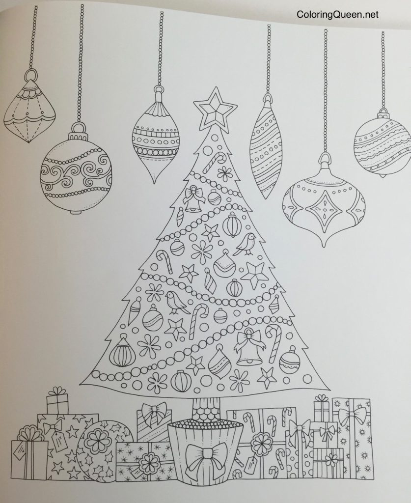 johannas christmas a festive colouring book uk edition