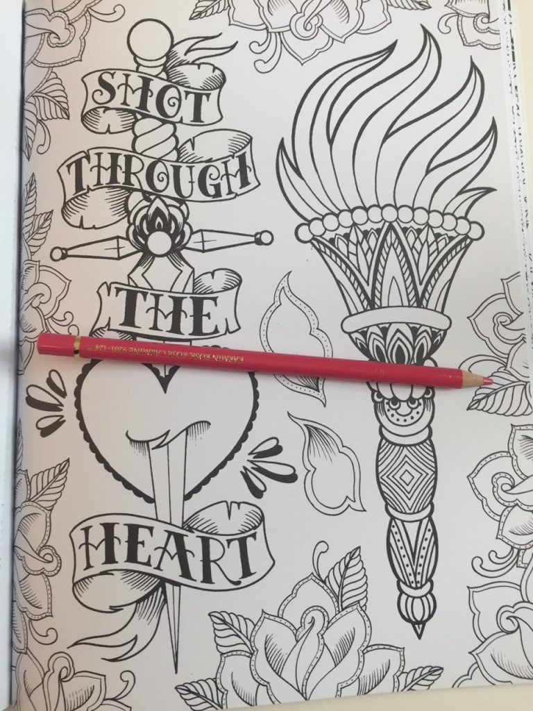 Marked In Ink Tattoo Colouring Book