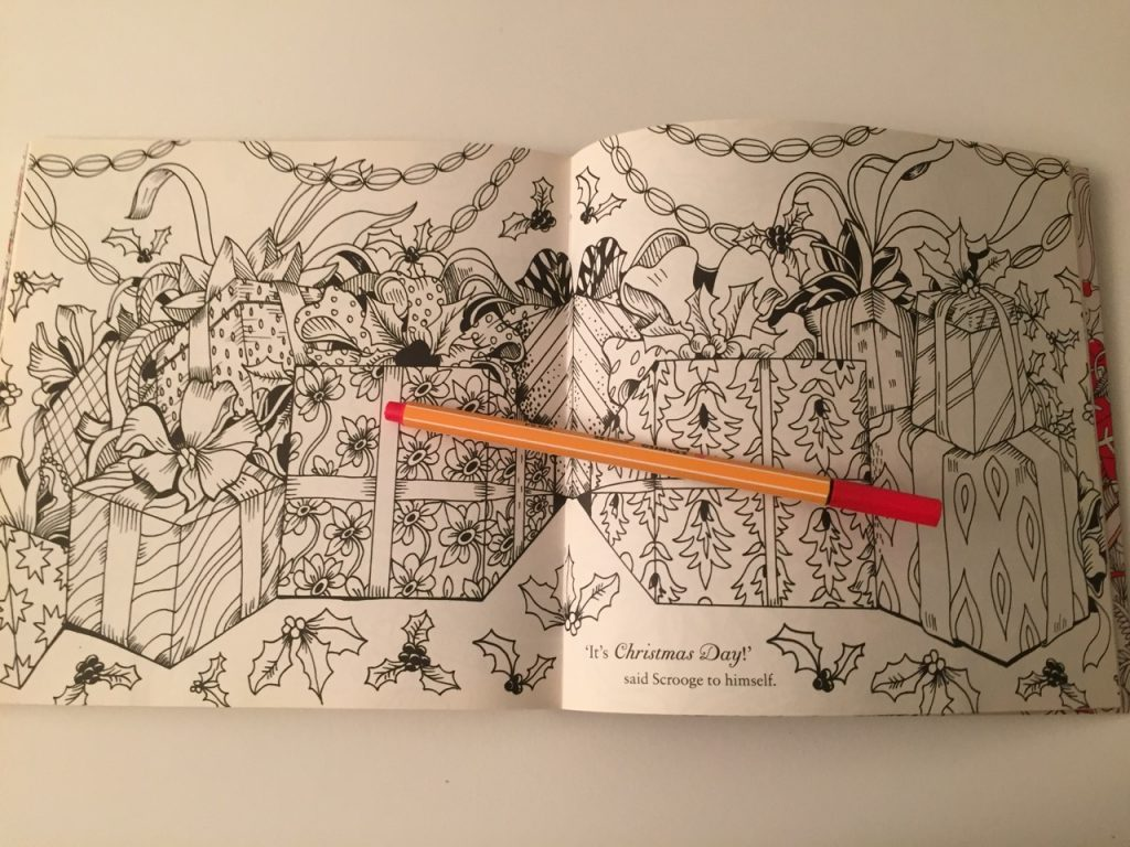 Escape to Christmas Past Colouring Book