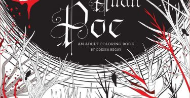 Poe coloring book 375x195 - Buena Vista - A Colouring Book For Lovers of all things Spanish