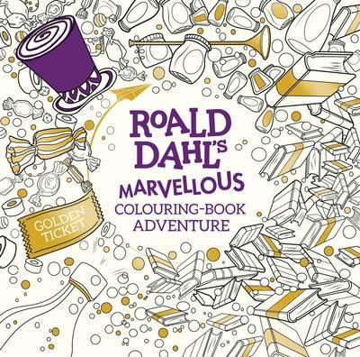 cover for Roald Dah's Marvelous Coloring Book Adventure