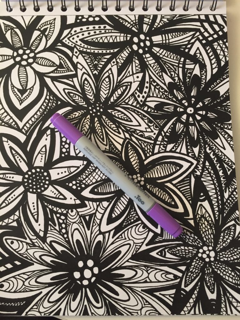 colorit calming doodles coloring book