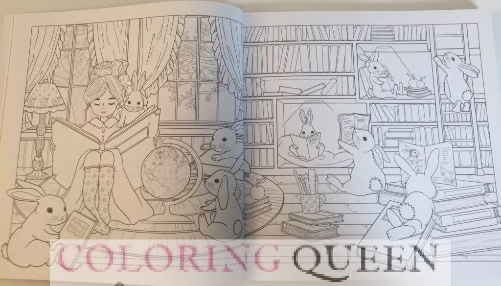 Bunny Girl Coloring Book