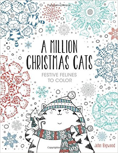 Christmas Cat Coloring