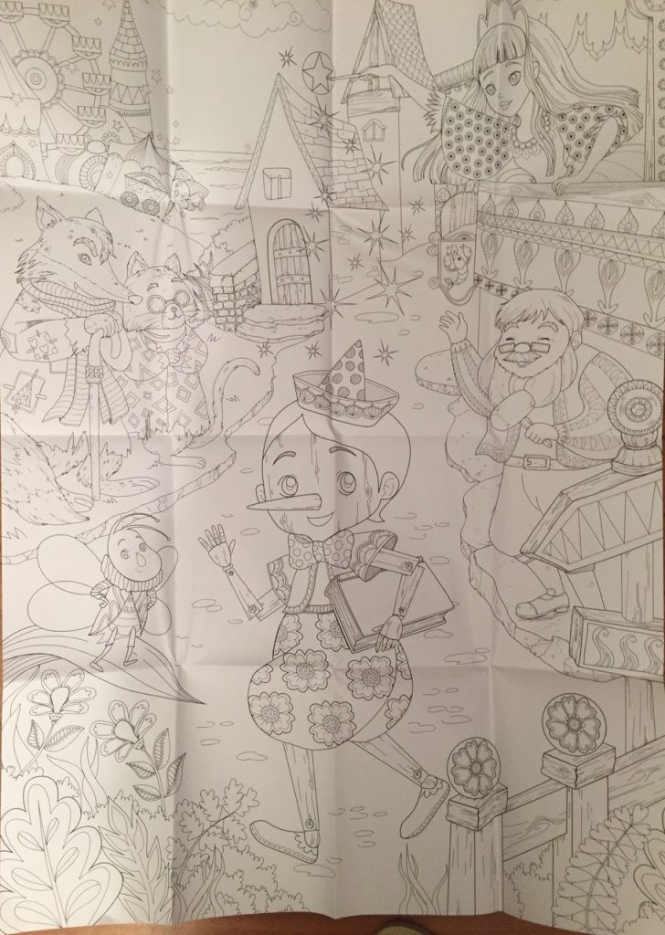Pinocchio Colouring Book Review