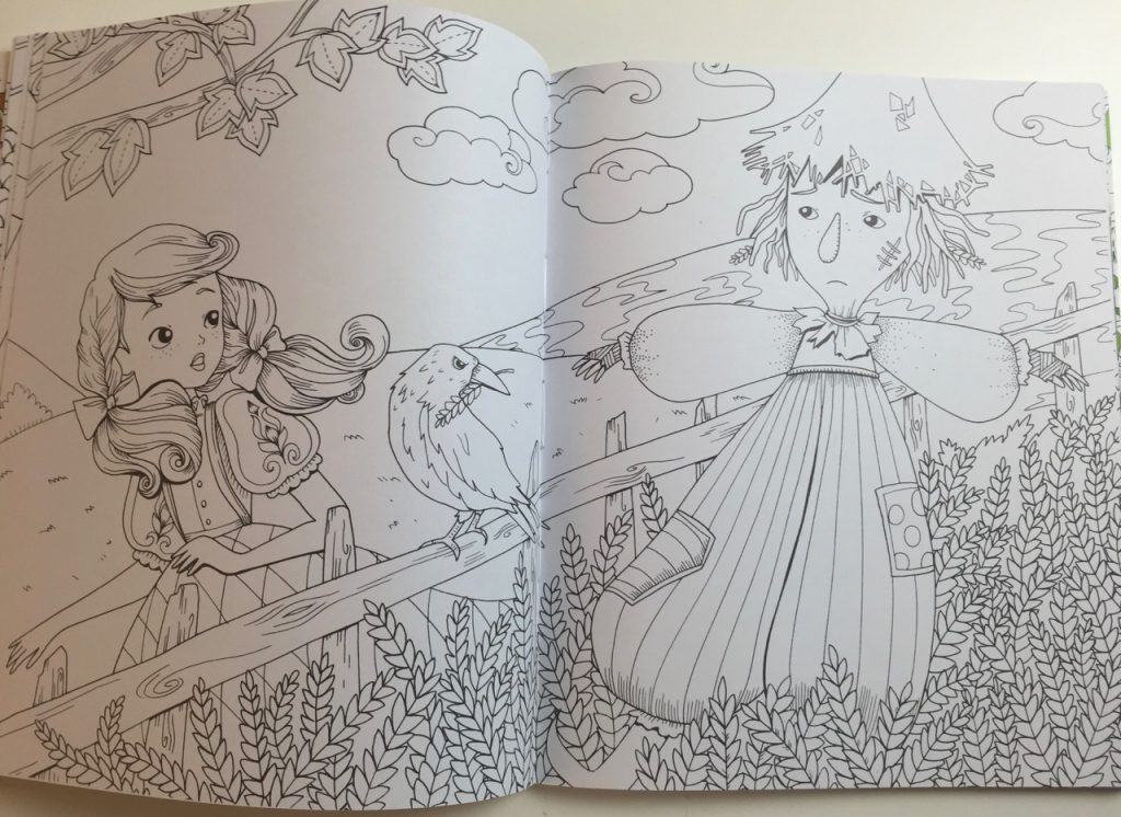 The Wizard of Oz Coloring Book by Fabiana Attanasio | Coloring Queen