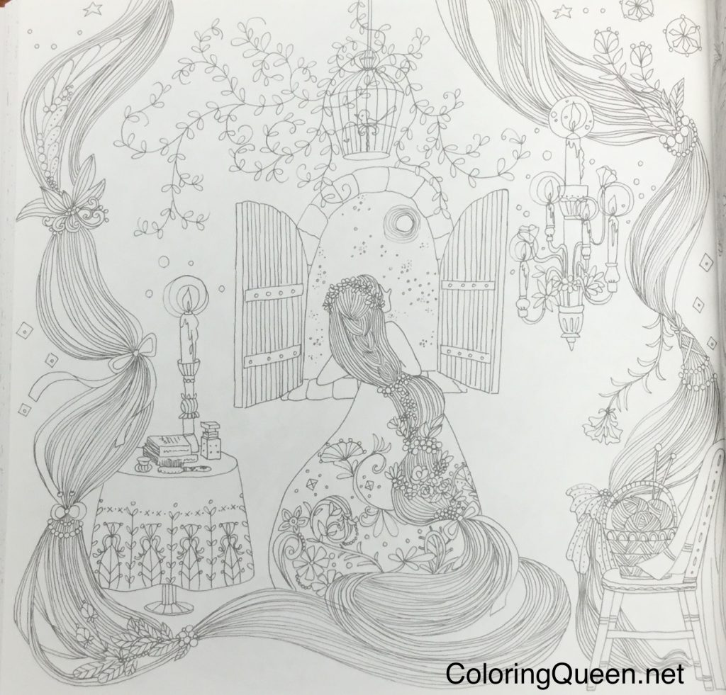 The Magical World of Grimm Fairy Tales - Coloring Book (グリム童話の ...