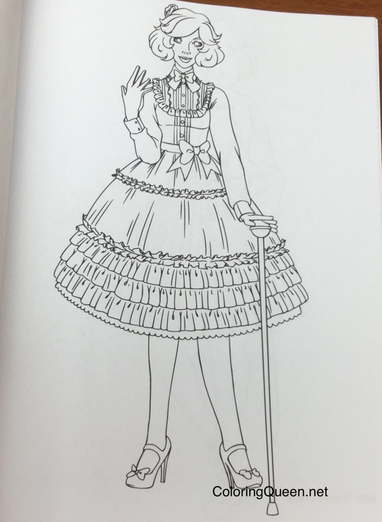 Lolita Fashion - Coloring Book for Adults | Coloring Queen