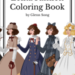 lolita fashion coloring book cover 150x150 - The Menagerie - Animal Portraits to Color