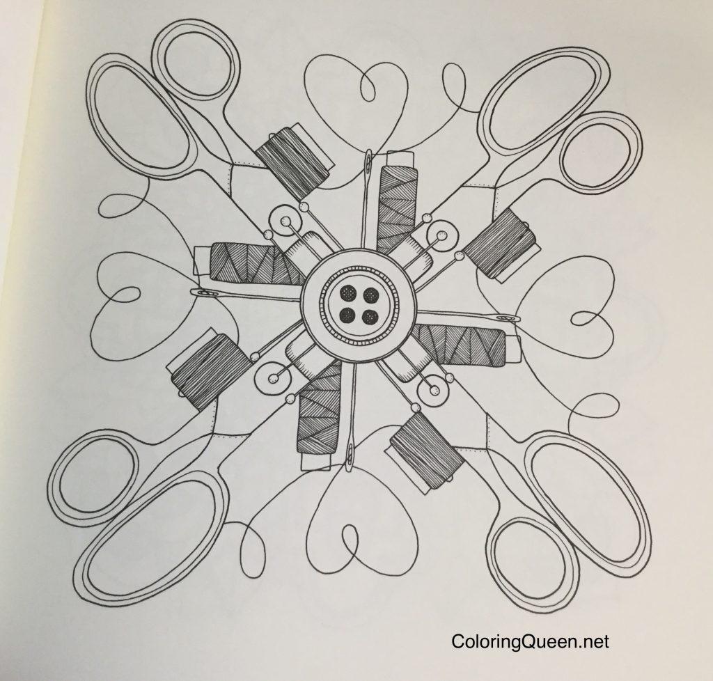 MinMandala 0439 1024x978 - Min Mandala En Malarbok (My Mandala Coloring Book)