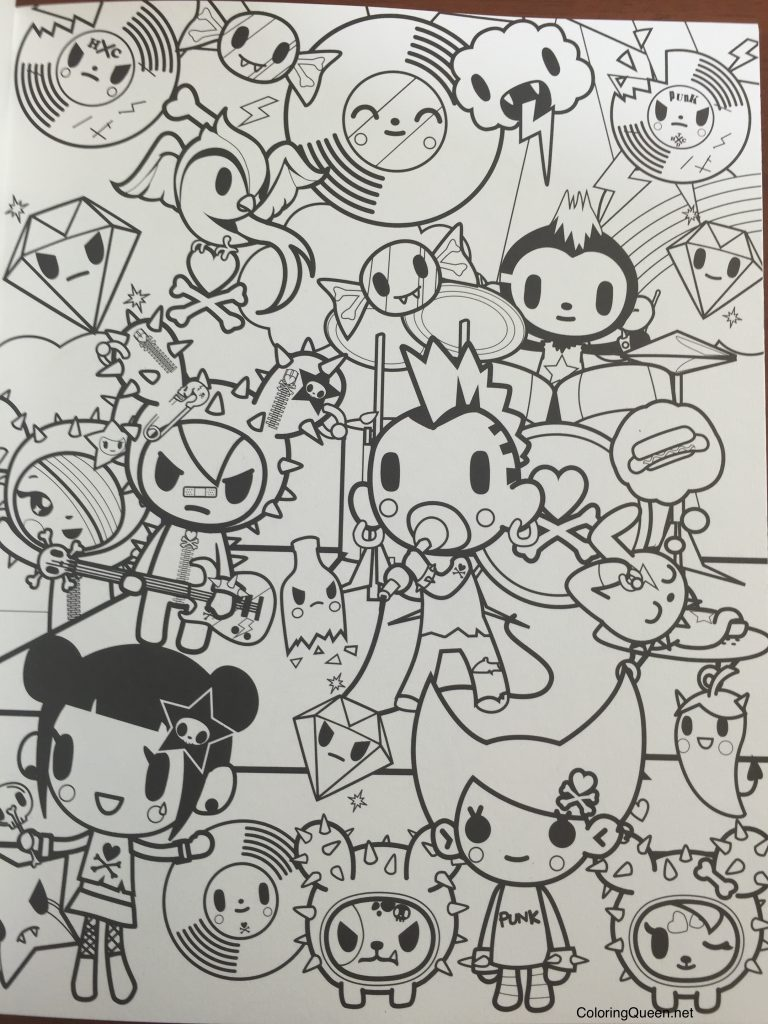 Tokidoki Coloring Pages Tokidoki Coloring Book  Coloring Queen