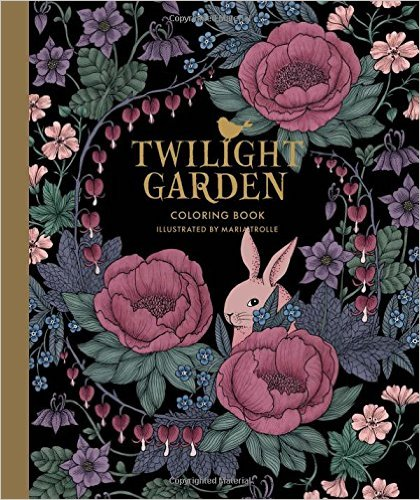 Twilight Garden Coloring Book Published In Sweden As Blomstermandala