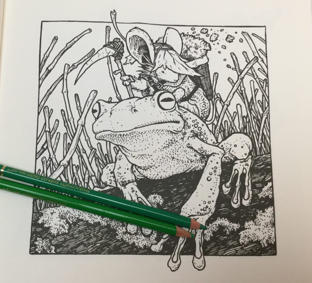 MouseGuardColoringBook frog 1024x929 - Mouse Guard Coloring Book