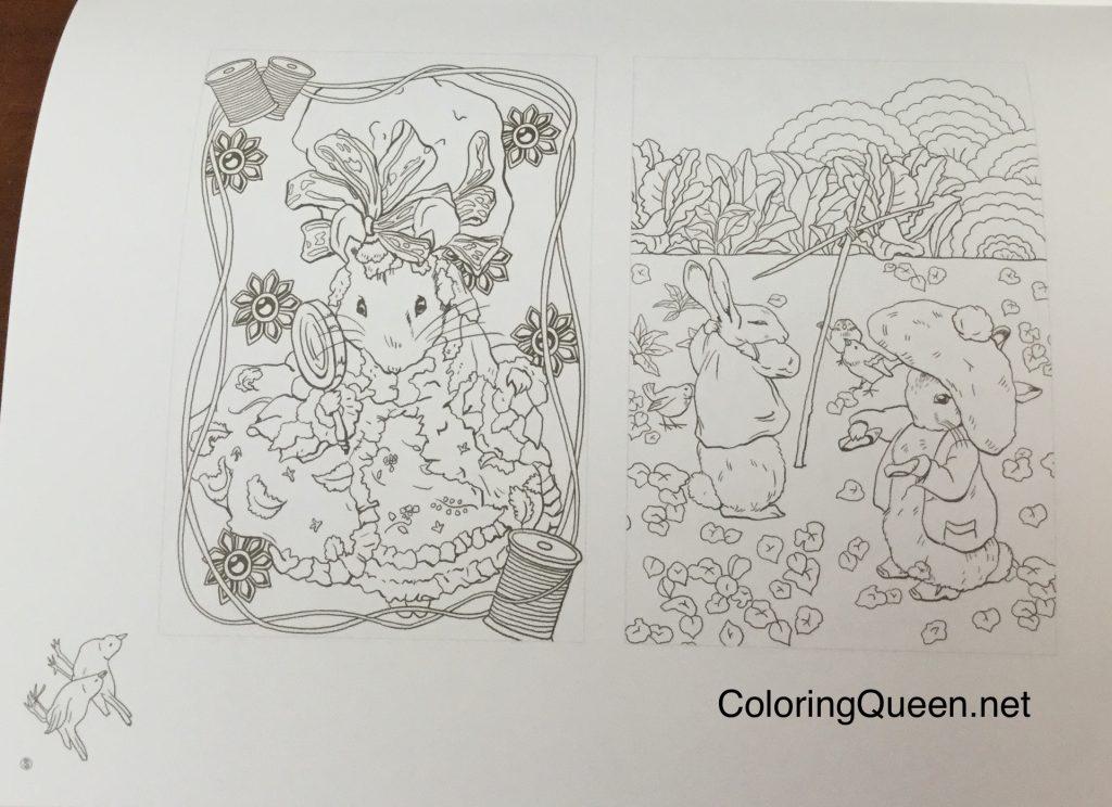 WorldofPeterRabbitColoringbook 0807 1024x744 - Peter Rabbit's World To Enjoy - Japanese Coloring Book