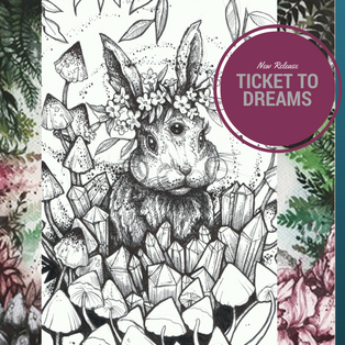 Ticket to Dreams Coloring Book by Karolina Kubikowska | Coloring Queen
