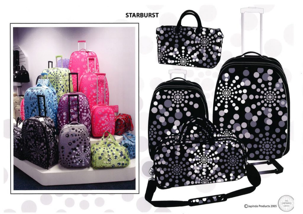 Starburst Design on Luggage 1024x724 - Catherine Davis