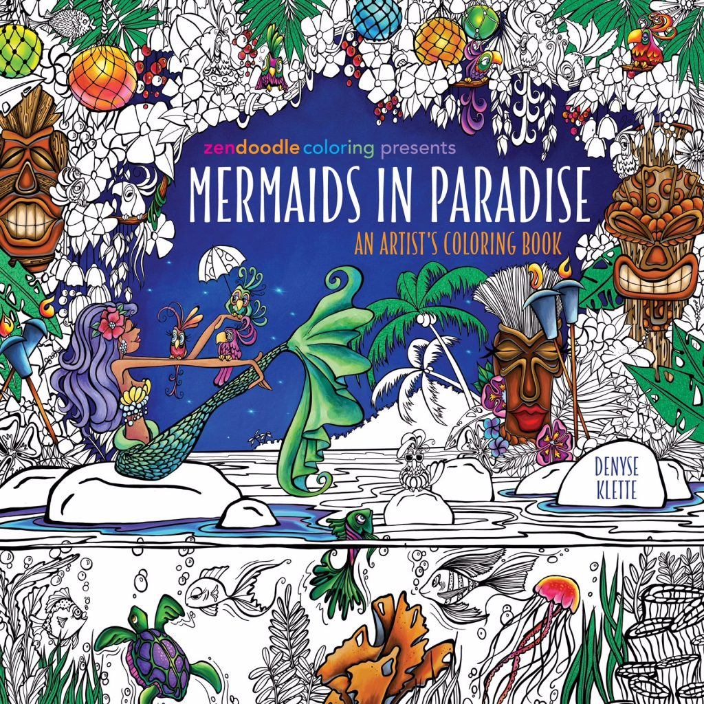 Cover reveal sneak peek inside of mermaids in paradise Coloring book amazon