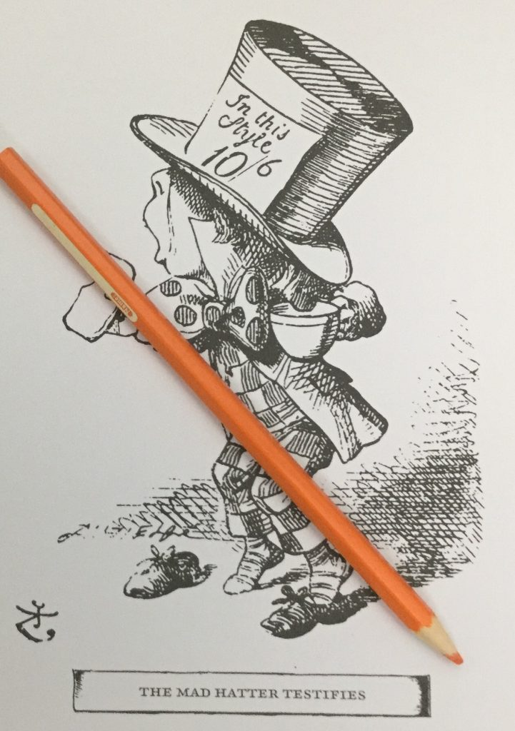 The Mad Hatter Testifies - Colouring Classics - Alice in Wonderland