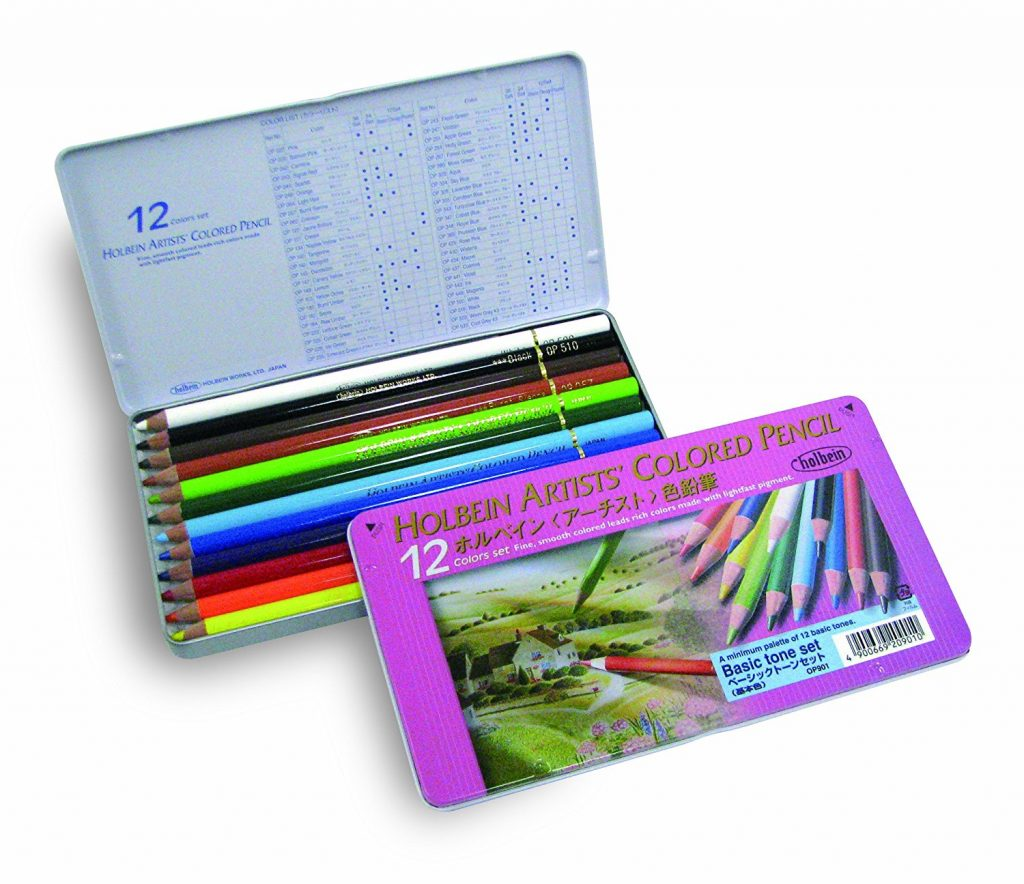 holbein basic tone set 1024x884 - Holbein Colored Pencils (150 pc) Set Review