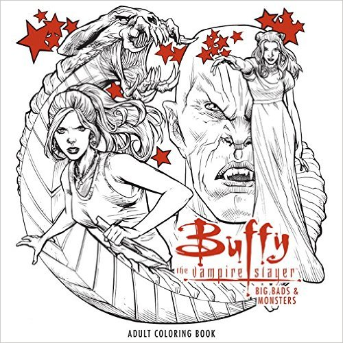 Buffy The Vampire Slayer Big Bads Monsters Adult Coloring Book