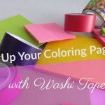 jazzingupyourcoloringpageswithwashitape 150x150 - Quick Keyrings in less than 5 minutes