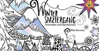 My Winter Walk German Coloring Book cover