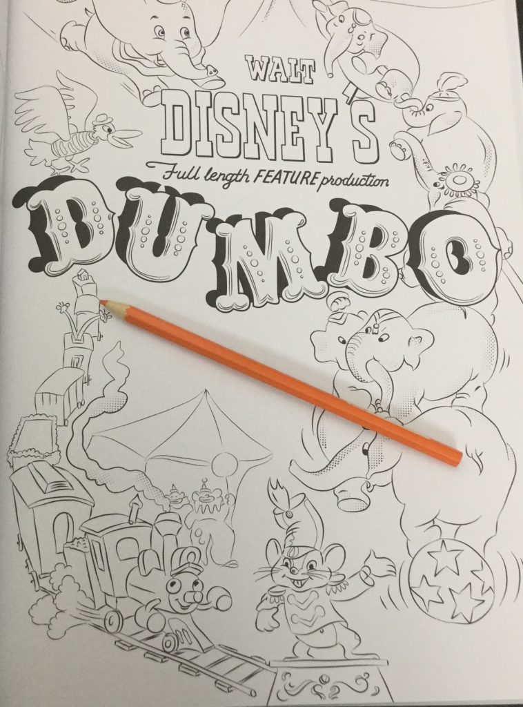 Dumbo Waiting To Be Colored In This Disney Coloring Book