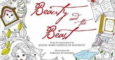 beautyandbeast 375x195 - Mucha Fantasy Coloring Book Review
