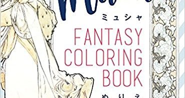 Mucha Fanatsy Coloring Book cover